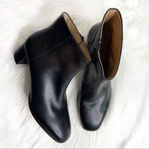 Via Spiga Vinson Leather Block Heel Bootie